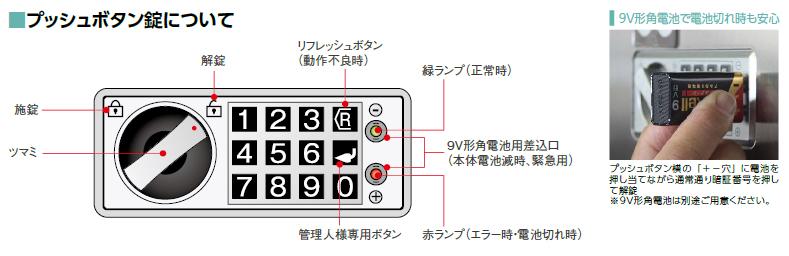 プッシュボタン錠操作